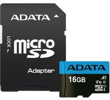 ADATA Micro SDHC Premier 16GB 85MB/s UHS-I A1 + SD adaptér - AUSDH16GUICL10A1-RA1
