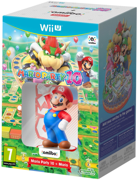 Mario Party 10 + Amiibo figurka (WiiU)