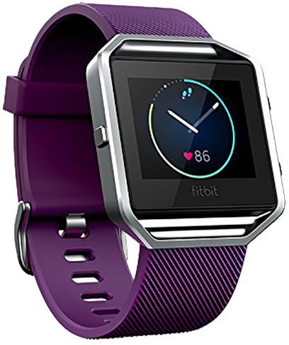Fitbit Blaze, EMEA, L, plum - stříbrná