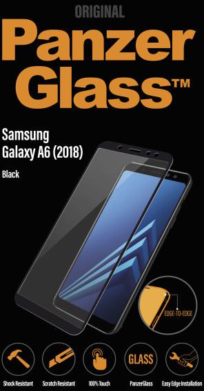 PanzerGlass Edge-to-Edge pro Samsung Galaxy A6, černé