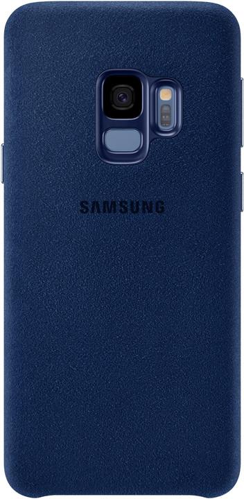 Samsung zadní kryt - kůže Alcantara pro Samsung Galaxy S9, modrý