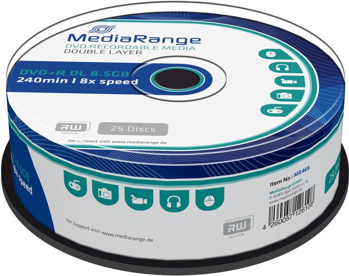 MediaRange DVD+R 8,5GB DL 8x, 25ks Spindle