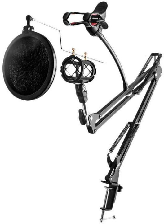 Remax mobilní rameno CK100 / pro nahrávací studio / pro mikrofon a telefon / uchycení na stůl