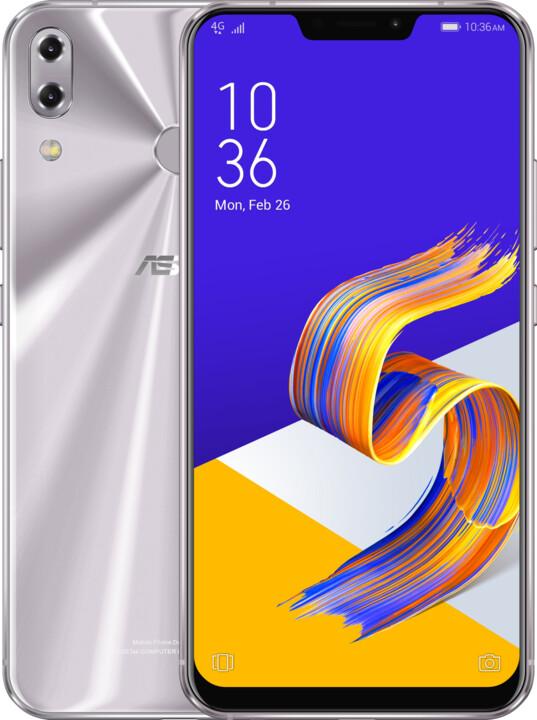 Asus ZenFone 5Z ZS620KL, 6GB/64GB, stříbrná