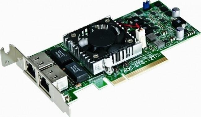 SuperMicro LAN karta AOC-STG-I2T, 2×GbE, PCI-e, LP