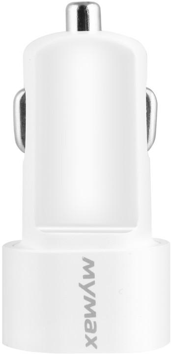 iMyMax Bullet Car Charger 3,1A, bílá