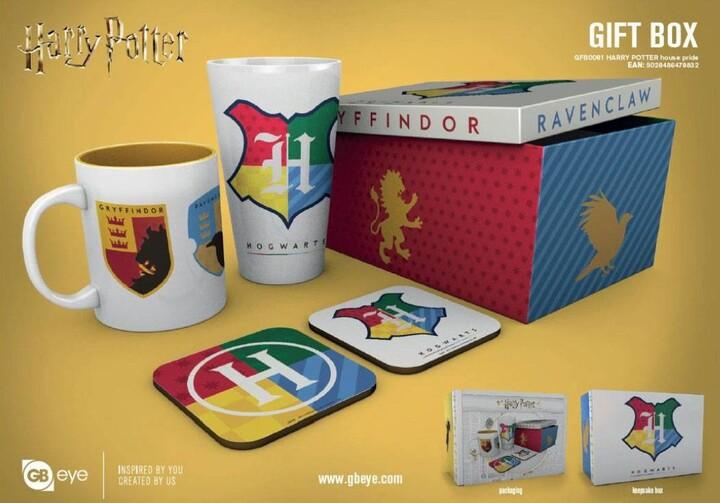 Dárkový set Harry Potter - House Pride (hrnek, sklenice, podtácky)