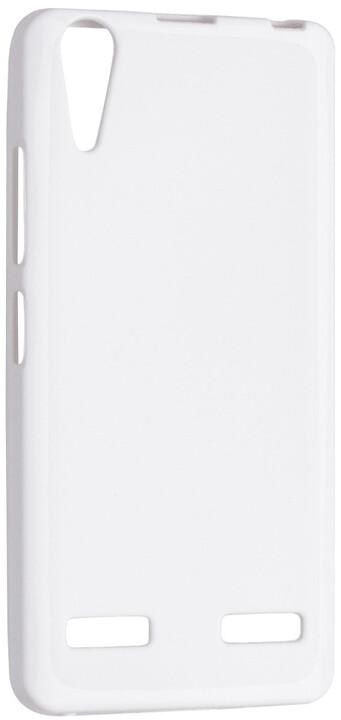 FIXED TPU gelové pouzdro pro Lenovo A6000, bílá