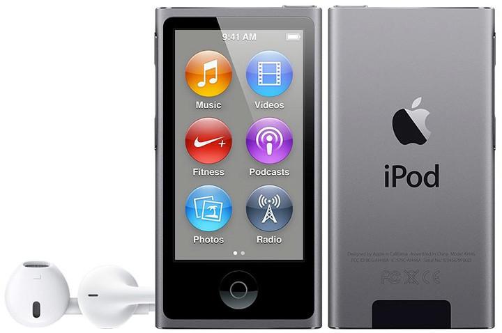 Apple iPod Nano - 16GB, šedá, 7th gen.