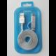 MEIZU datový nabíjecí kabel USB - MicroUSB/USB-C, 120 cm, stříbrná