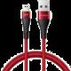 Mcdodo Peacock Lightning datový kabel s LED 1.2m, červená