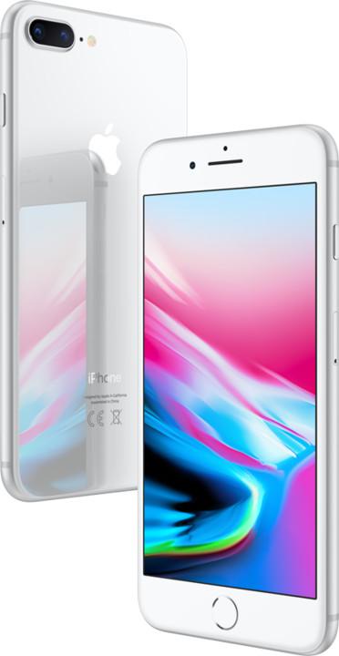 Apple iPhone 8 Plus, 256GB, stříbrná