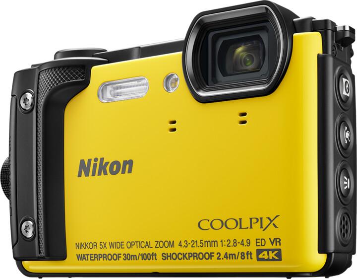 Nikon Coolpix W300, žlutá