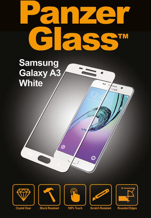 PanzerGlass ochranné sklo na displej pro Galaxy A3 (2016), bílá