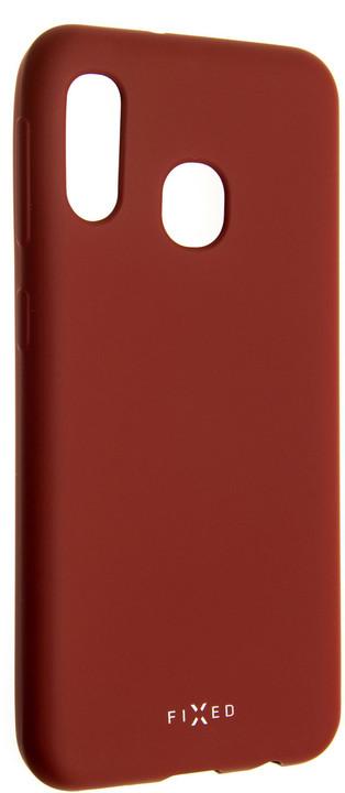 FIXED zadní pogumovaný kryt Story pro Samsung Galaxy A20e, červená