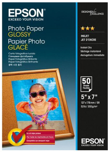 Epson Photo Paper Glossy, 13x18 cm, 50 listů, 200g/m2, lesklý
