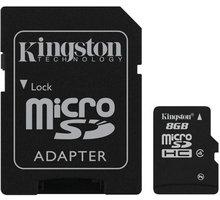Kingston Micro SDHC 8GB Class 4 + SD adaptér