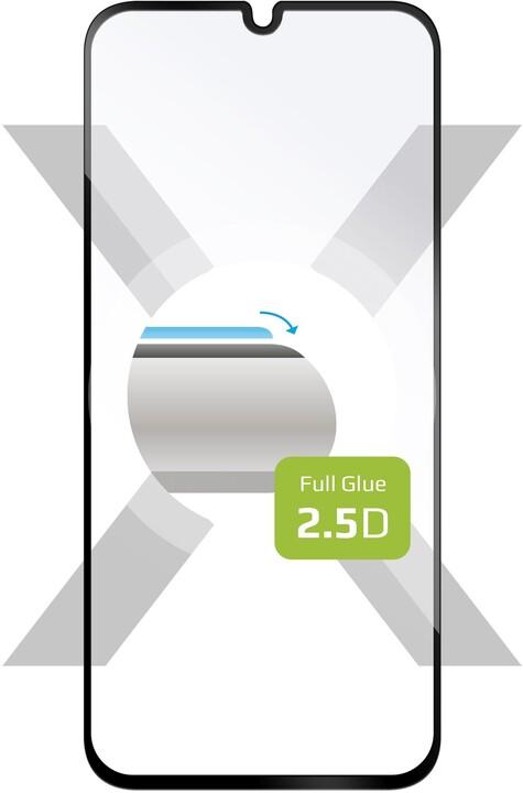 FIXED ochranné tvrzené sklo Full-Cover pro Samsung Galaxy A70, lepení přes celý displej, černá
