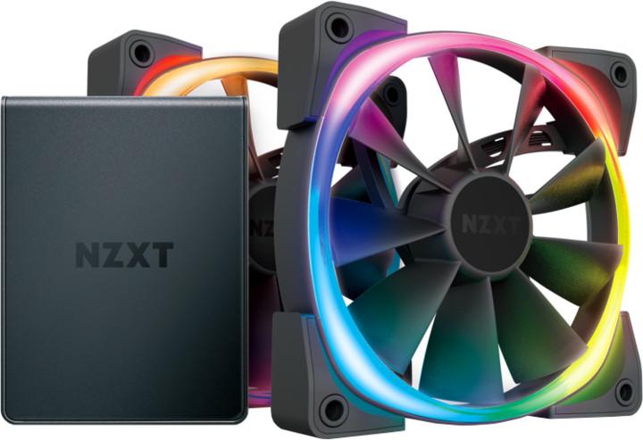 NZXT Aer RGB 2 Series Twin Starter kit HF-2814C-D1, HUE 2, 2x140mm, 4-pin