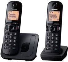 Panasonic KX-TGC212FXB, černý, TwinPack