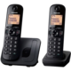 Panasonic KX-TGC212FXB, černý, TwinPack  + Voucher až na 3 měsíce HBO GO jako dárek (max 1 ks na objednávku)