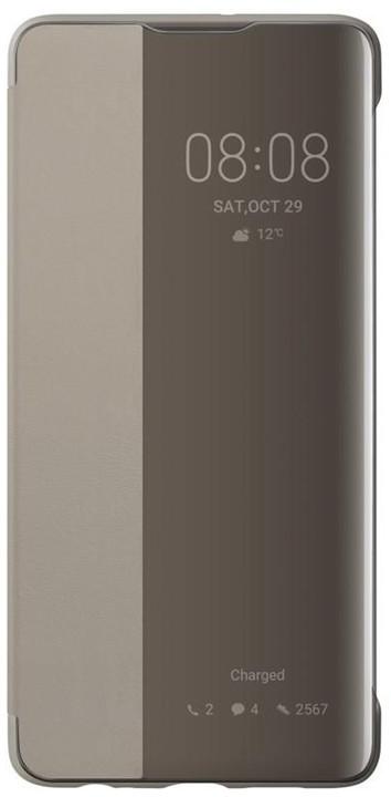 Huawei Original S-View pouzdro pro P30, khaki