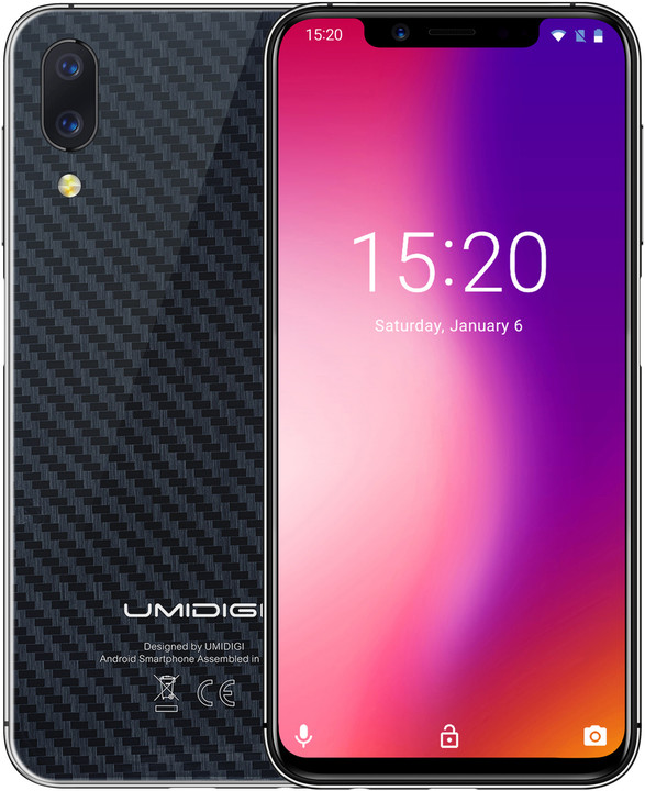 UMIDIGI ONE Pro, 4GB/64GB, Dual SIM, Carbon Fiber
