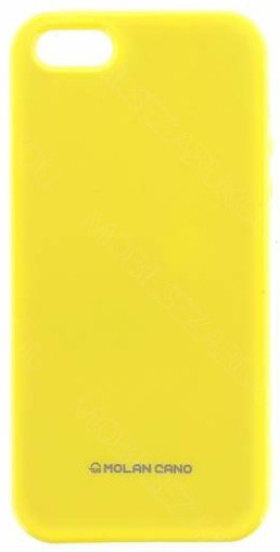 Molan Cano Jelly TPU Pouzdro pro iPhone X, žlutá