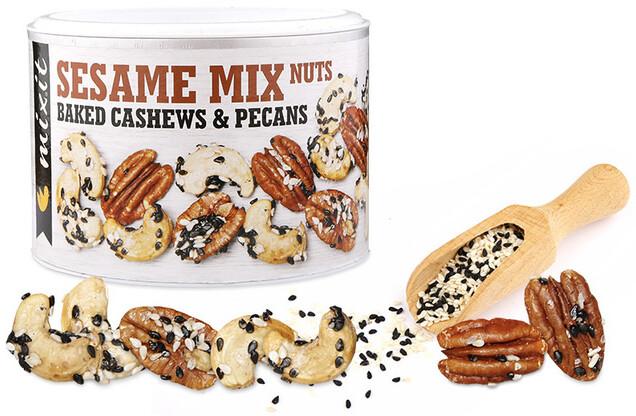 Mixit Oříšky z pece - mix ořechy/sezam/růžová sůl, 150g