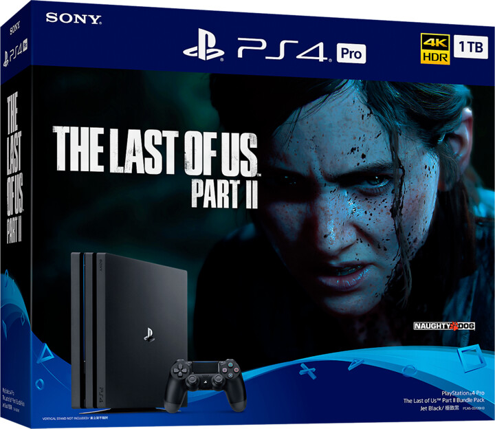PlayStation 4 Pro, 1TB, Gamma chassis, černá + The Last of Us Part II