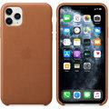 Apple kožený kryt na iPhone 11 Pro Max, sedlově hnědá
