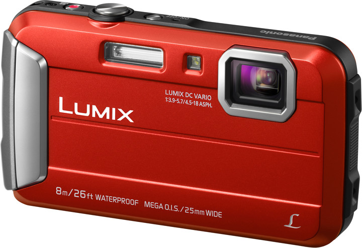 Panasonic DMC-FT30, červená