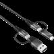 Trust synchonizační a nabíjecí kabel Keyla 4v1, extra silný, 3A, 1m, černá