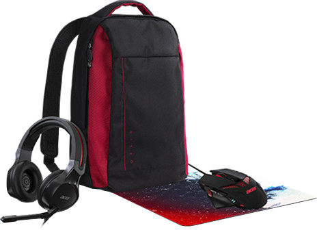 Acer NITRO Combo-Set 4v1 (myš+podložka pod myš+sluchátka+batoh)