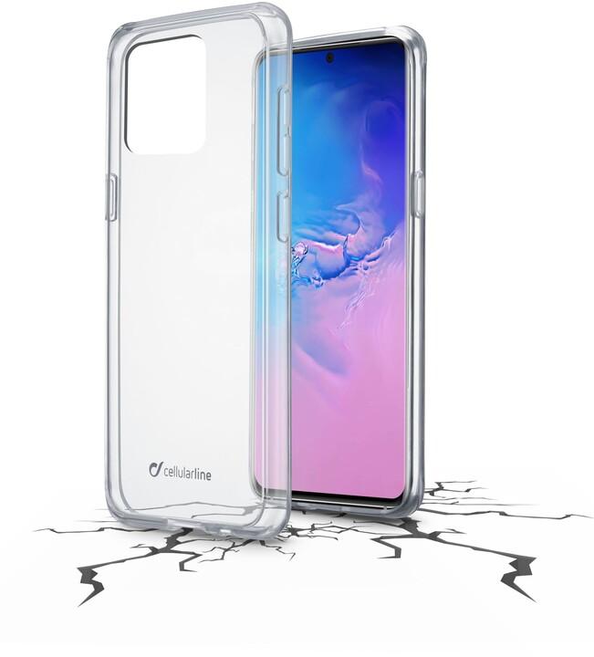 Cellularline zadní kryt s ochranným rámečkem CLEAR DUO pro Samsung Galaxy S20 Ultra, čirá