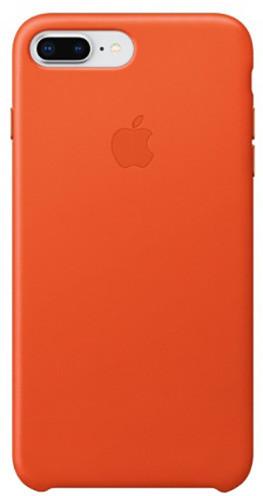 Apple kožený kryt na iPhone 8 Plus / 7 Plus, jasně oranžová