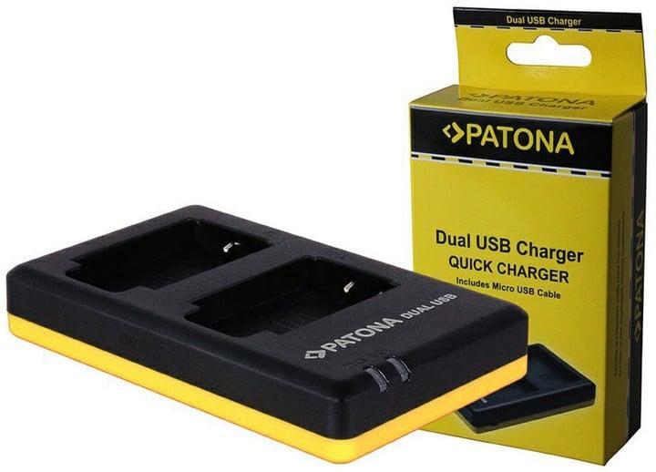 Patona nabíječka pro foto Dual Quick Canon LP-E10 USB