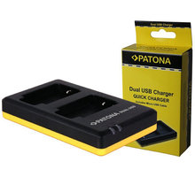 Patona nabíječka pro foto Dual Quick Canon LP-E10 USB - PT1960