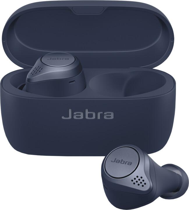 Jabra Elite Active 75t, modrá