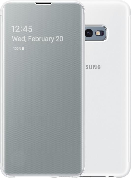 Samsung Clear View flipové pouzdro pro Samsung G970 Galaxy S10e, bílá