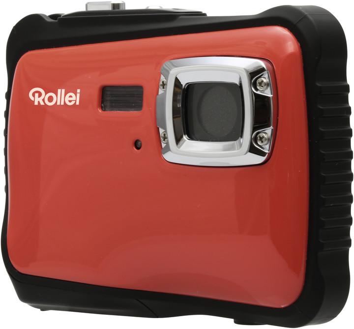 Rollei Sportsline 65, voděodolný, červená/černá, brašna