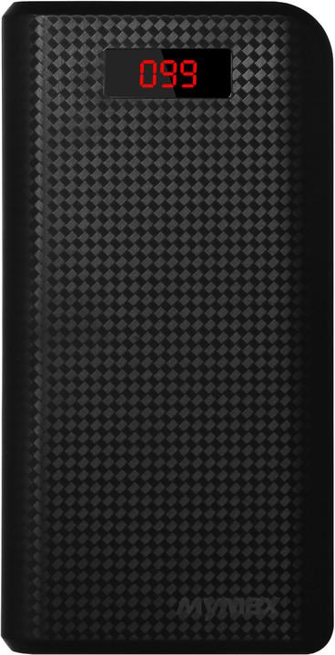 iMyMax Carbon Power Bank 30.000mAh, černá