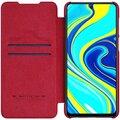 Nillkin pouzdro Qin Book pro Xiaomi Redmi Note 9 Pro/Note 9s, červená