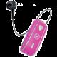 CELLY SNAIL, bluetooth headset s klipem a navijákem kabelu, růžová