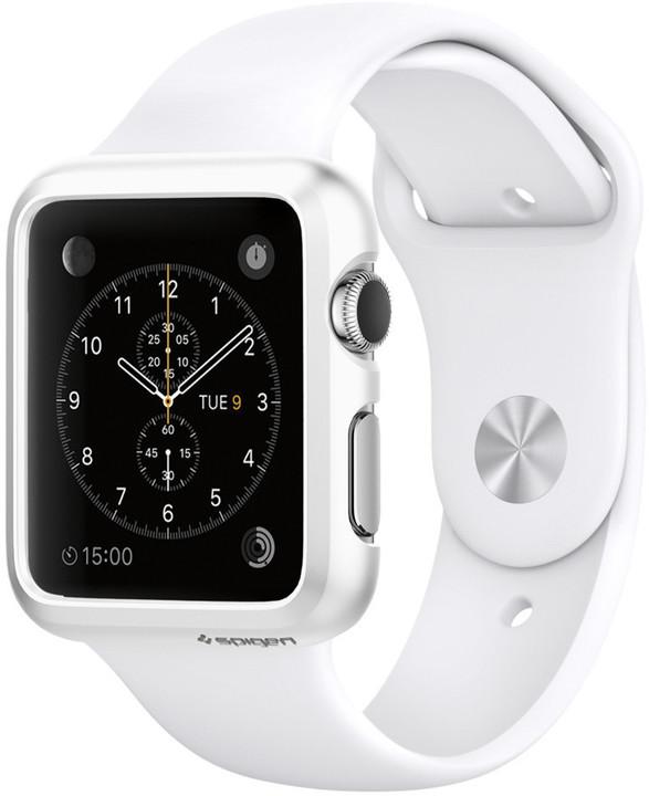 Spigen Thin Fit, smooth white - Apple Watch 38mm