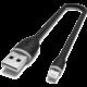 Satechi flexibilní kabel USB-A - Lightning, MFI, 0.25m, černá