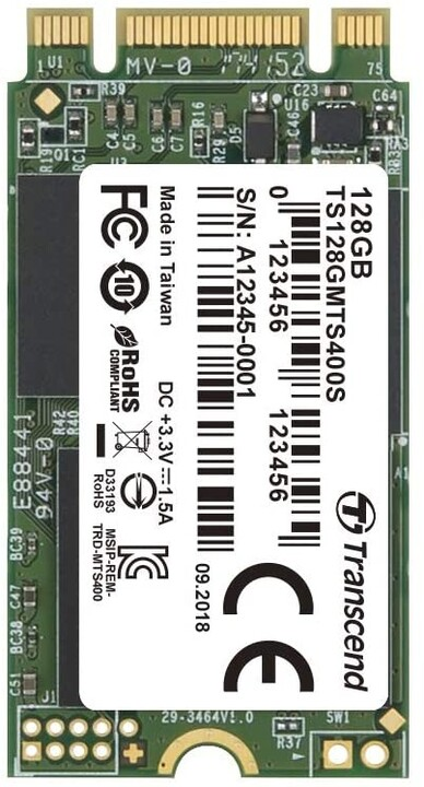 Transcend MTS400S, M.2 - 128GB