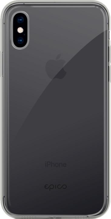 EPICO twiggy gloss ultratenký plastový kryt pro iPhone XS Max, černý transparentní
