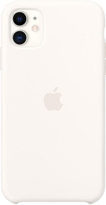 Apple silikonový kryt na iPhone 11, bílá