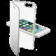 CellularLine Clear Book průhledné pouzdro typu kniha pro Apple iPhone 7, stříbrná